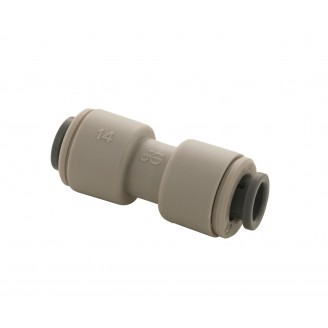 John Guest Adaptor 1/4 x 1/4  Double Ended Connector