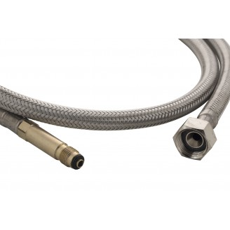 """Braided Hose 3/8"""" M10 x 1M Outlet with brass connector"""